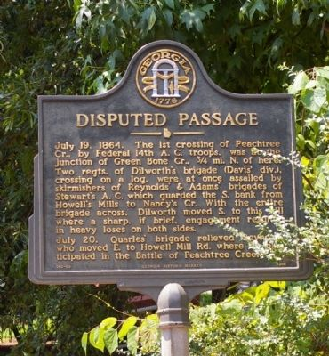 Disputed Passage Marker image. Click for full size.