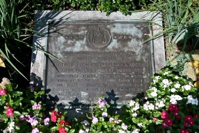 NYC Bomb and Forgery Squad Explosion Memorial Marker image. Click for full size.