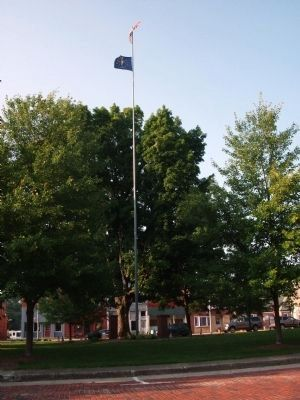 Memorial Flag Pole - - Photo, Click for full size