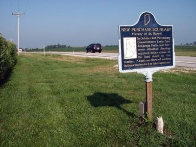 Looking West - - New Purchase Boundary Marker image. Click for full size.