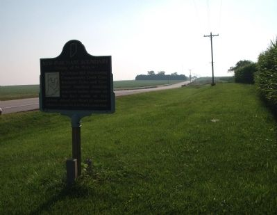 Looking East - - New Purchase Boundary Marker image. Click for full size.