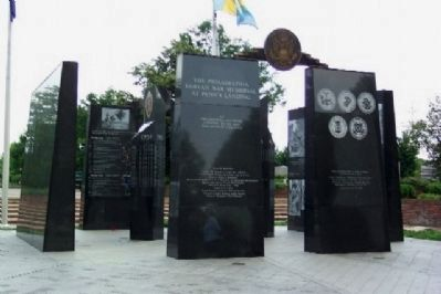 The Philadelphia Korean War Memorial at Penn's Landing Photo, Click for full size