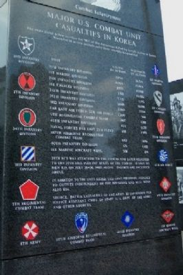 Major U.S. Combat Unit Casualties in Korea Photo, Click for full size