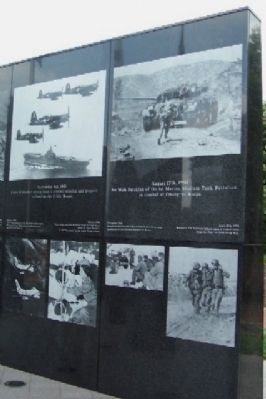 Laser Engraved Photos on the Philadelphia Korean War Memorial Photo, Click for full size