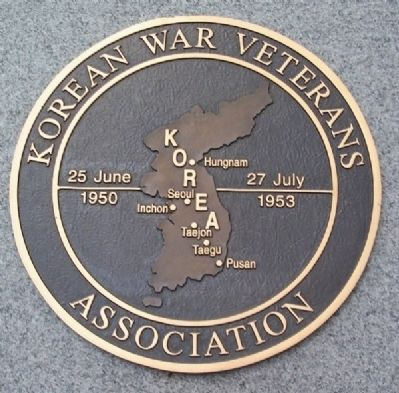 Korean War Veterans Association Marker Photo, Click for full size