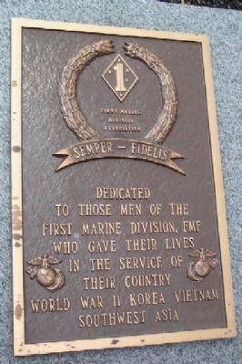 First Marine Division Marker Photo, Click for full size