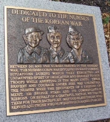 Korean War Nurses Marker Photo, Click for full size