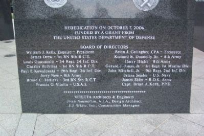The Philadelphia Korean War Memorial Rededication Marker Photo, Click for full size