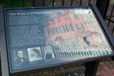 The Poes in Philadelphia Marker image. Click for full size.