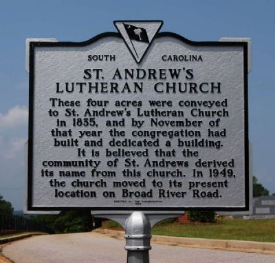 St. Andrew's Lutheran Church Marker image. Click for full size.