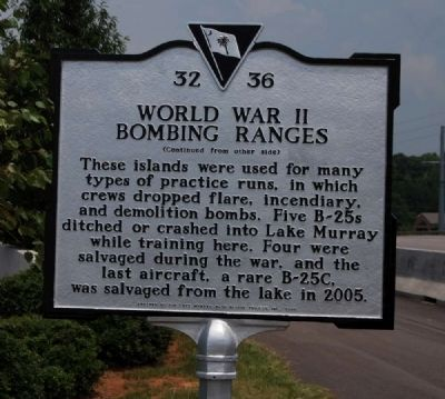 World War II Bombing Ranges Marker - Reverse Photo, Click for full size