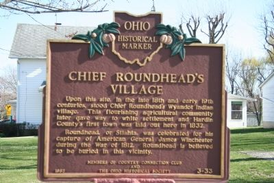 Chief Roundhead's Village Marker Photo, Click for full size