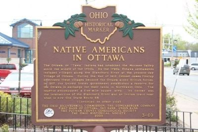 Native Americans in Ottawa Marker image. Click for full size.