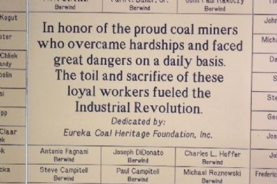 Coal Miner Memorial Marker image. Click for full size.