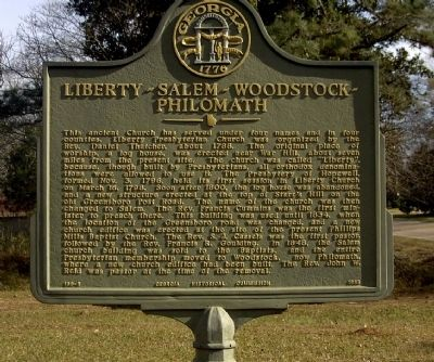 Liberty-Salem-Woodstock-Philomath Marker image. Click for full size.