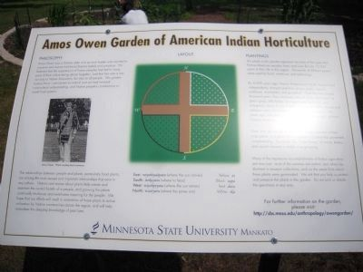 Amos Owen Garden of American Indian Horticulture Marker image. Click for full size.