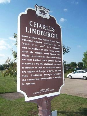 Charles Lindbergh Marker image. Click for full size.