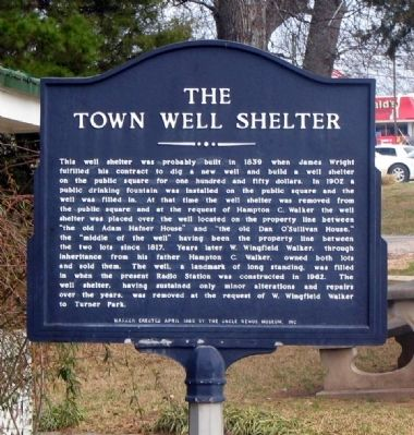 The Town Well Shelter Marker image. Click for full size.