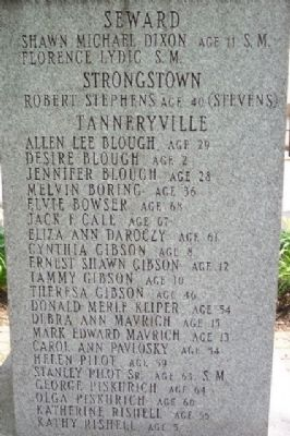 Greater Johnstown Flood Victims (NW Face) image. Click for full size.