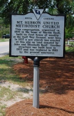 Mt. Hebron United Methodist Church Marker Photo, Click for full size