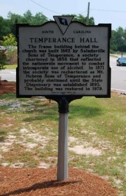 Temperance Hall Marker Photo, Click for full size