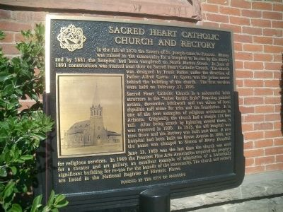 Sacred Heart Catholic Church and Rectory Marker image. Click for full size.