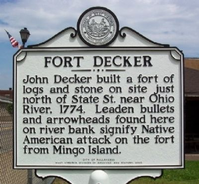 Fort Decker Marker image. Click for full size.