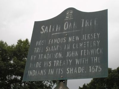 Salem Oak Tree Marker image. Click for full size.