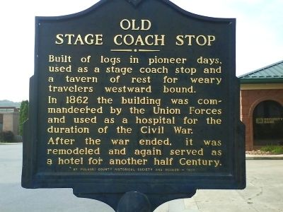 Old Stage Coach Stop Marker Photo, Click for full size
