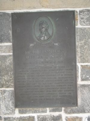 Fort Hamilton Officers' Club Marker image. Click for full size.