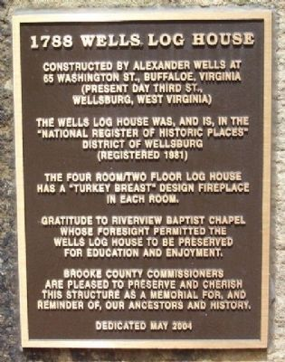 1788 Wells Log House Marker image. Click for full size.