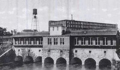 Electric Power House (Foreground) and<br>Columbia Duck Mill (Rear) Photo, Click for full size