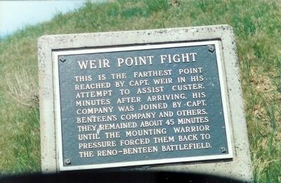 Weir Point Fight Marker Photo, Click for full size