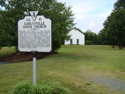 Earlysville Union Church and Marker image. Click for full size.