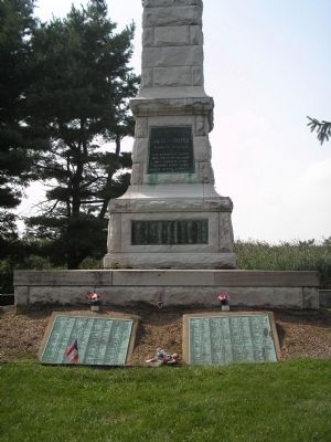 Front of the Confederate Monument image. Click for full size.