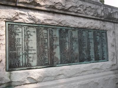 Rear of the Confederate Monument image. Click for full size.