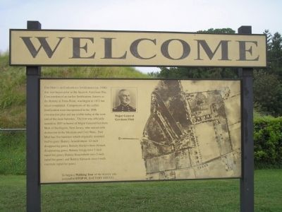 Welcome (to Fort Mott) Marker image. Click for full size.