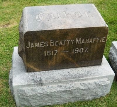 James Mahaffie Headstone Photo, Click for full size