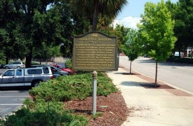 Doolittle Raiders Marker -<br>Looking East Along Gervais Street Photo, Click for full size