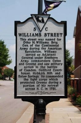 Williams Street Marker image. Click for full size.