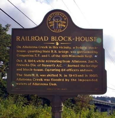 Railroad Block-house Marker image. Click for full size.