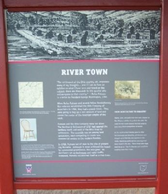 River Town Marker image. Click for full size.