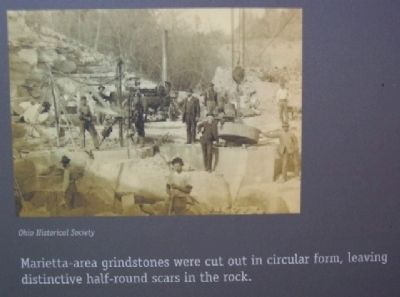 Grindstone Photo on River Town Marker image. Click for full size.