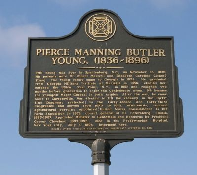 Pierce Manning Butler Young, (1836-1896) Marker Photo, Click for full size