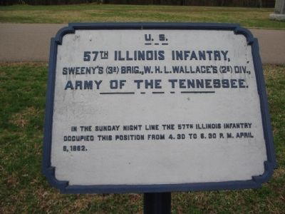 57th Illinois Infantry Tablet image. Click for full size.