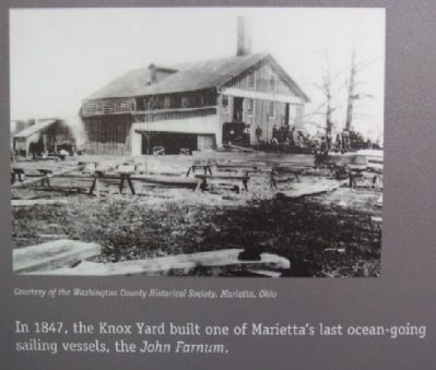 The Knox Yard Photo on Sails and Steam Marker image. Click for full size.