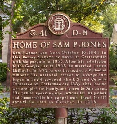 Home of Sam P Jones Marker Photo, Click for full size