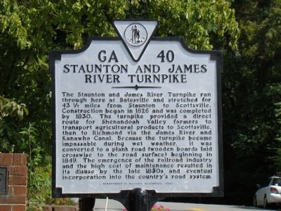 Staunton and James River Turnpike Marker image. Click for full size.