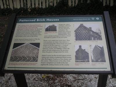 Patterned Brick Houses Marker image. Click for full size.