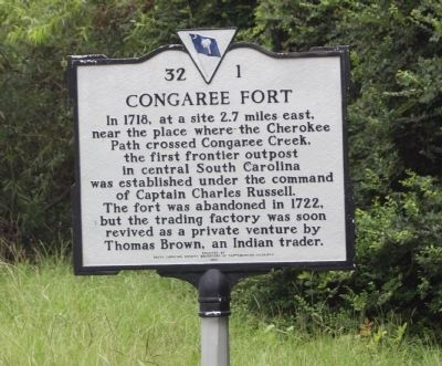 Congaree Fort Marker image. Click for full size.